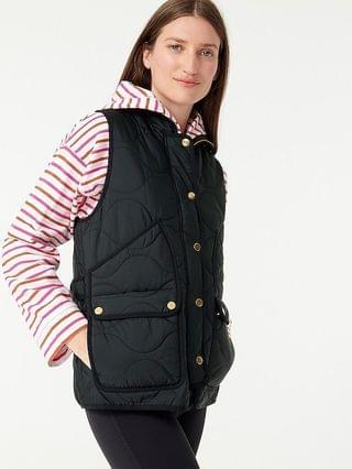 WOMEN Quilted vest with PrimaLoft