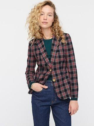 WOMEN Shrunken blazer in black Stewart tartan