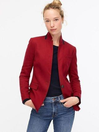 WOMEN Regent blazer in wool flannel