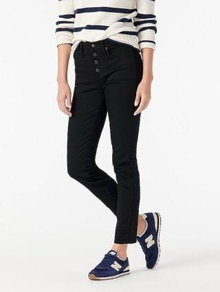 "WOMEN 9"" vintage straight jean in black"