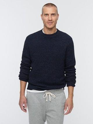 MEN Rugged merino wool waffle sweater