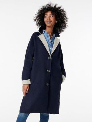 WOMEN Car coat in Italian double-faced wool