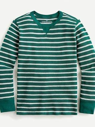 KIDS Kids' long-sleeve waffle T-shirt in stripes