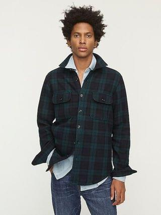 MEN Heavyweight blanket cloth shirt-jacket