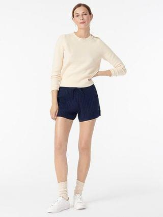 WOMEN Cable-knit short in cotton-cashmere