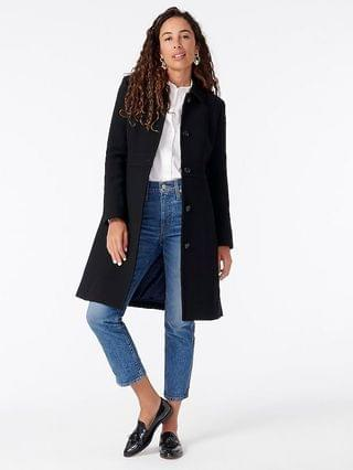 WOMEN Classic day coat in Italian double-cloth wool with Thinsulate