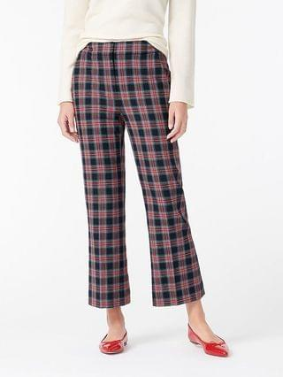 WOMEN Hayden pant in black Stewart tartan bi-stretch wool