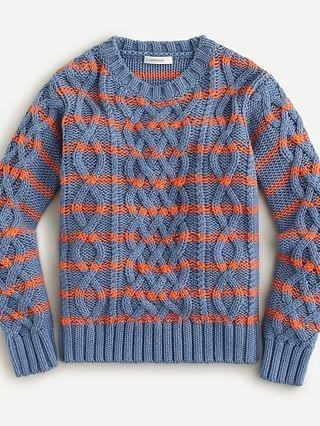 KIDS Boys' marled cable-knit sweater in stripe