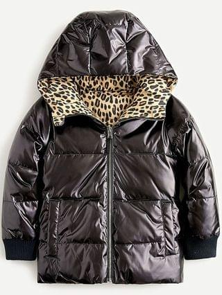 KIDS Girls' reversible quilted puffer jacket with PrimaLoft