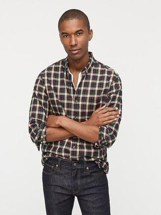 MEN Brushed twill shirt in plaid