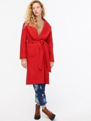 WOMEN Wrap coat in Italian wool-cashmere