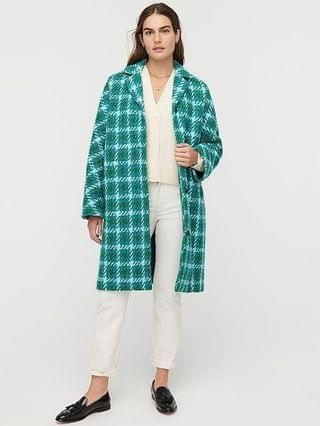 WOMEN Car coat in houndstooth Italian wool