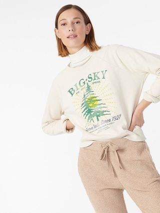 WOMEN Big Sky sweatshirt in original cotton terry