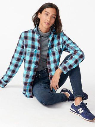 WOMEN Shirt-jacket in Stanton plaid flannel