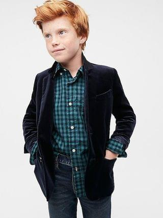 KIDS Boys' Ludlow blazer in velvet