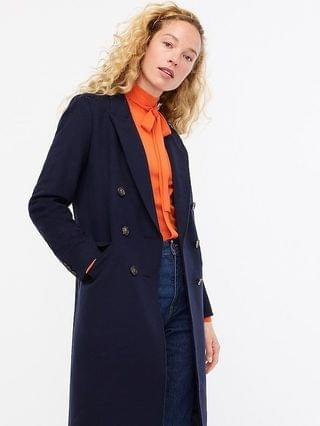 WOMEN Double-breasted topcoat in Italian wool-cashmere