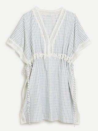 WOMEN Tunic cover-up in lace-stripe