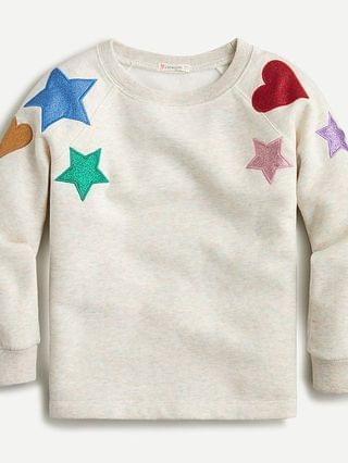 KIDS Girls' crewneck sweatshirt with metallic patches