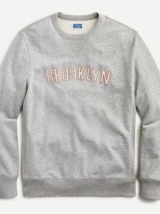 MEN French terry Brooklyn graphic sweatshirt