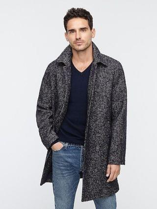MEN Ludlow raglan-sleeve car coat in Irish wool blend