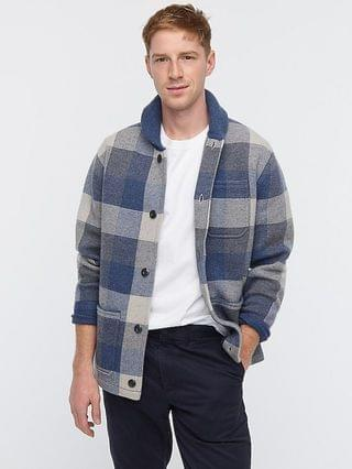 MEN Wallace & Barnes boiled merino wool chore jacket in check