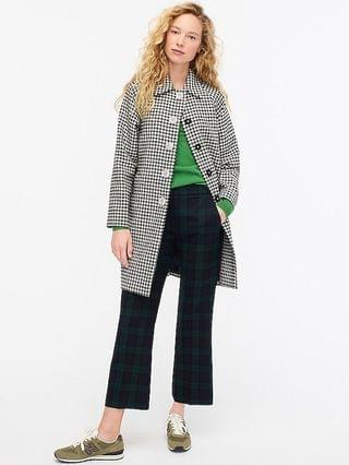 WOMEN Collection car coat in houndstooth English wool