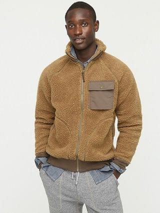 MEN Wallace & Barnes sherpa fleece full-zip jacket
