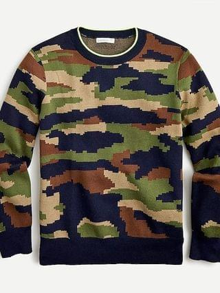 KIDS Boys' crewneck sweater in camo