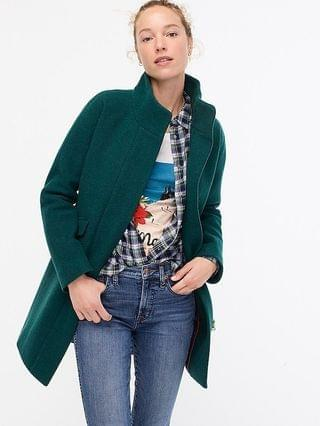 WOMEN Cocoon coat in Italian stadium-cloth wool with Thinsulate