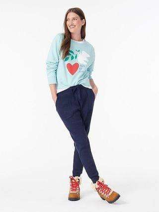 WOMEN Dove heart sweatshirt in original cotton terry