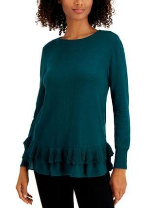 WOMEN Petite Chiffon-Hem Tunic Sweater, Created for Macy's