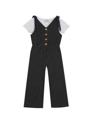 KIDS Big Girls Knit Jumpsuit with T-shirt