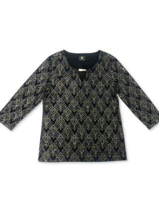 WOMEN Plus Size Beaded Jacquard Top, Created for Macy's