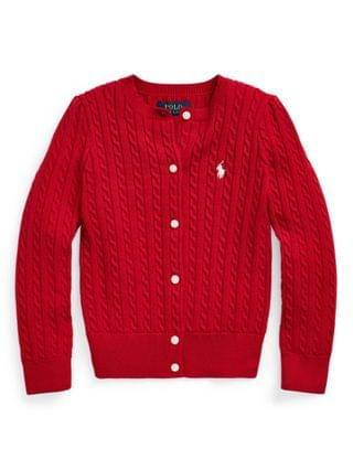 KIDS Little Girls Cable-Knit Cotton Cardigan