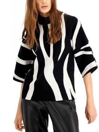 WOMEN Printed Kimono-Sleeve Sweater, Created for Macy's