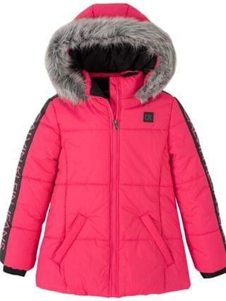 KIDS Big Girls Logo Sleeve Puffer Jacket