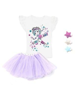 KIDS Little Girls Gymnastic Top and Skirt Set