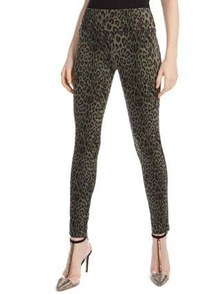 WOMEN I.N.C. International Concepts Petite Animal-Print Skinny Pants, Created for Macy's