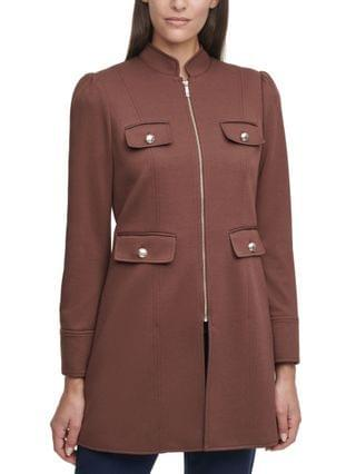 WOMEN Mandarin-Collar Topper Jacket