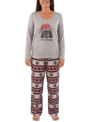 WOMEN Matching Women's Holiday Darth Vader Family Pajama Set