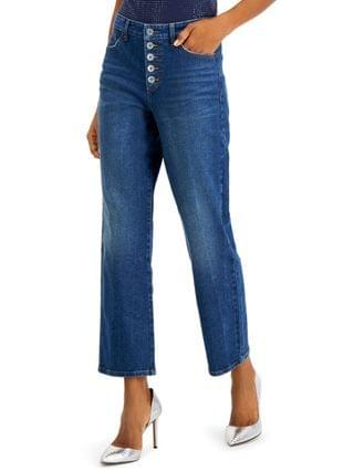 WOMEN INC High-Rise Straight-Leg Jeans, Created for Macy's