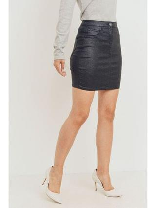 WOMEN Ladie's Sparkle Coated Skirt