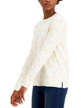 WOMEN Star-Print Sweater, Created for Macy's