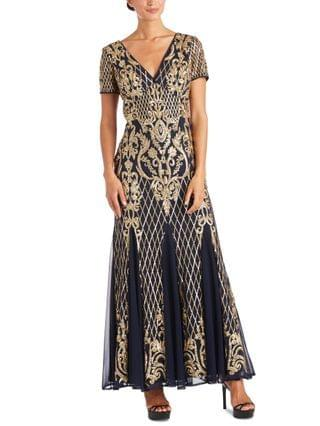 WOMEN Sequined Godet Gown