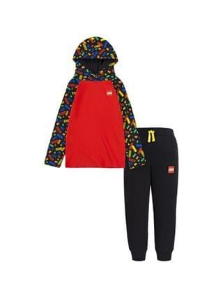 KIDS LEGO Little Boys Hooded Shirt and Joggers Set