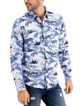 MEN Winter Slopes Regular-Fit Printed Shirt, Created for Macy's