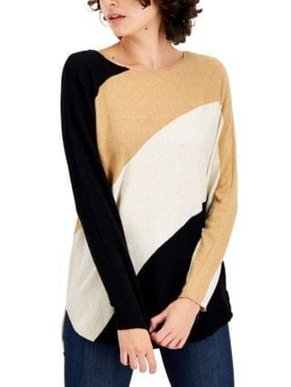 WOMEN I.N.C. International Concepts Petite Colorblocked Top, Created for Macy's