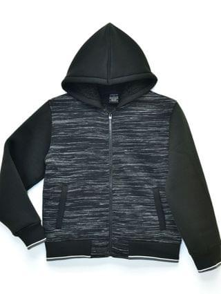 KIDS Big Boys William Space Dye Sherpa Lined Fleece Zip Up Jacket with Hood, Made For Macy's