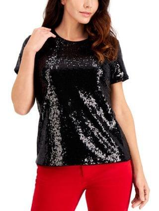 WOMEN Petite Sequinned Top, Created for Macy's