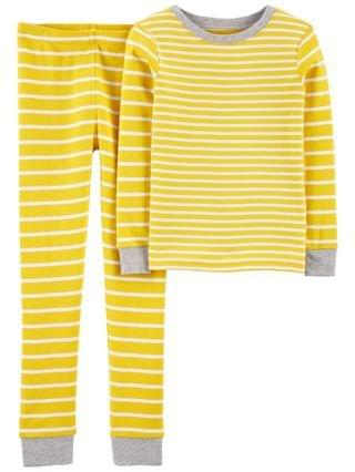 KIDS Big Boys 2-Piece Striped Snug Fit Cotton PJs